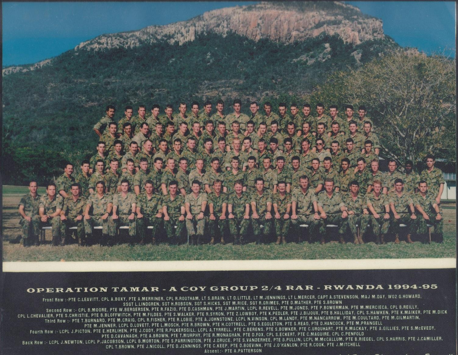 A Coy Group OP TAMAR - Rwanda 1994/95