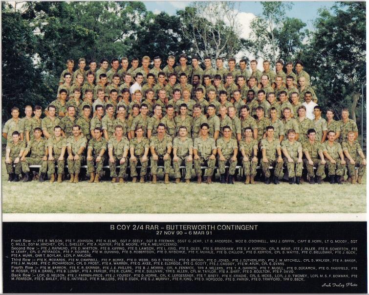 B COY RCB 1990 - 91