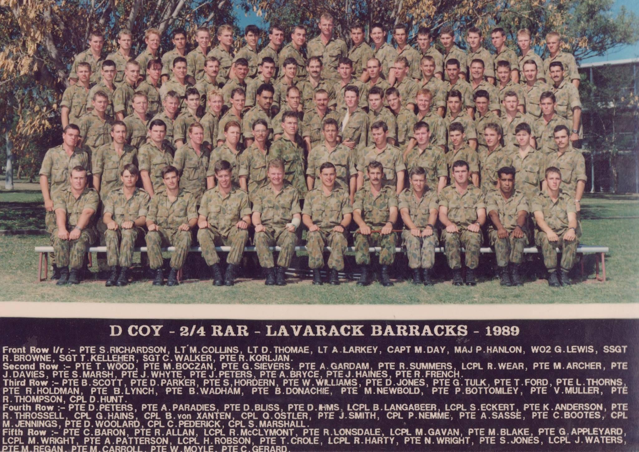 D Coy 1989