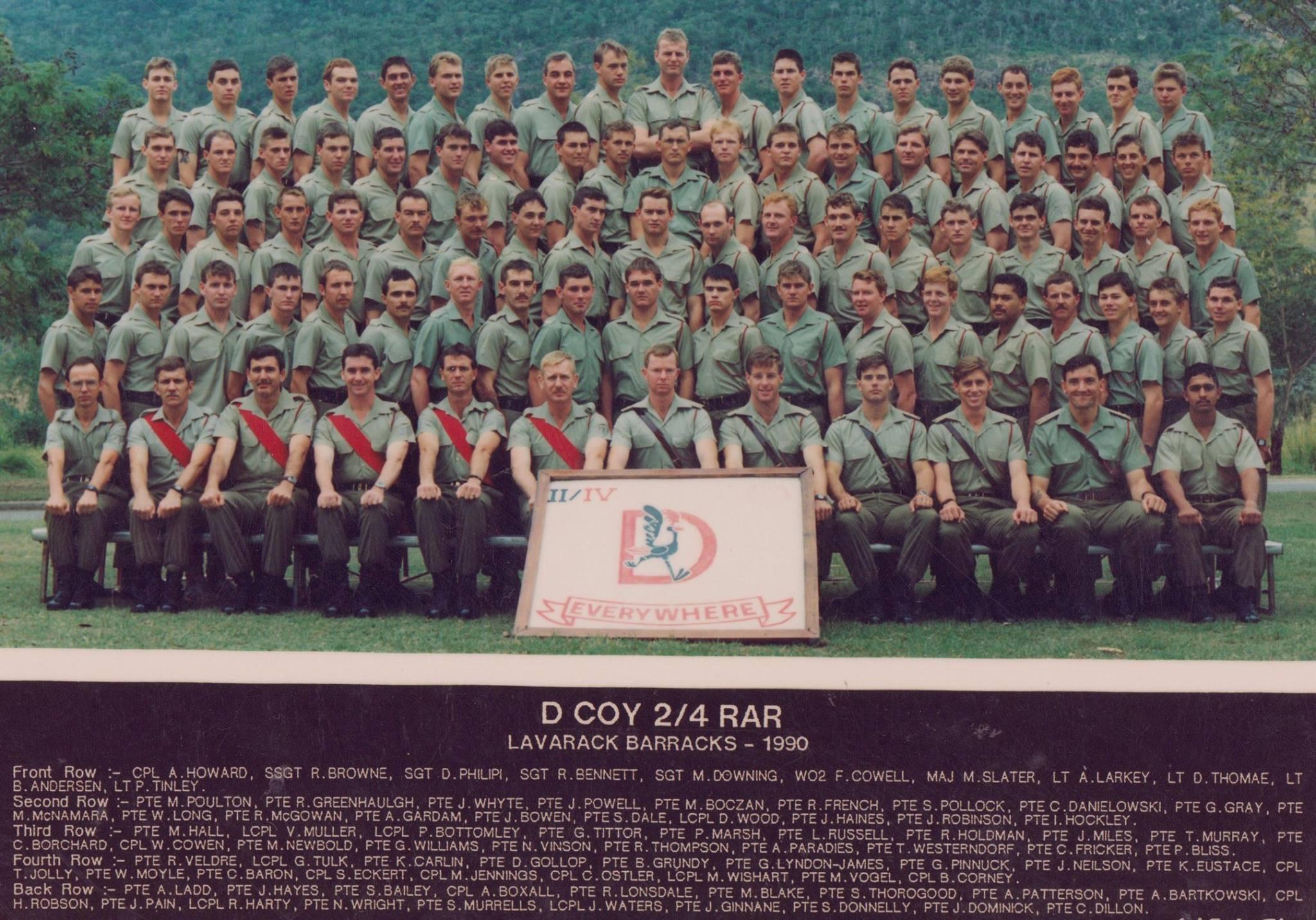 D Coy 1990