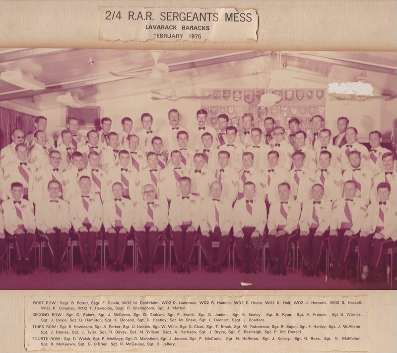 SGTS Mess 1975