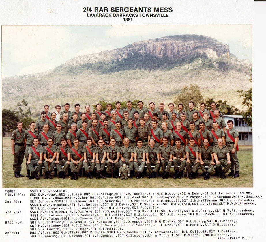 SGTS Mess 1981