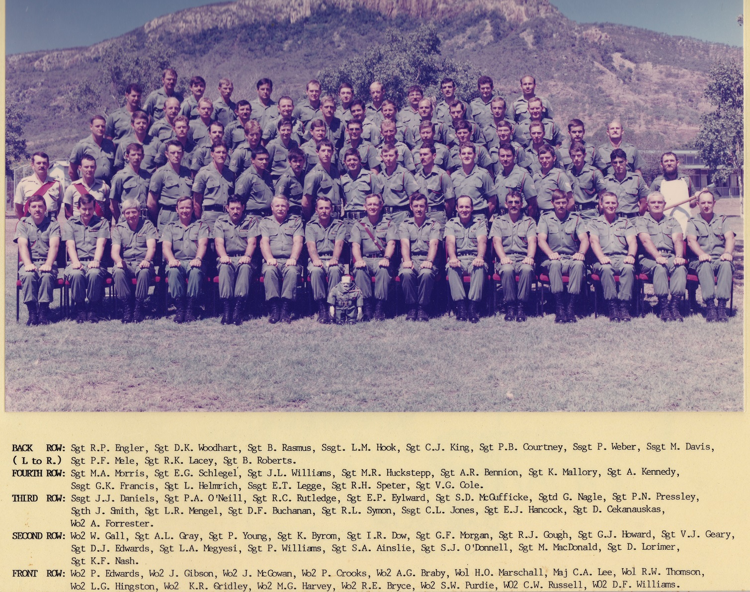SGTS Mess 1986