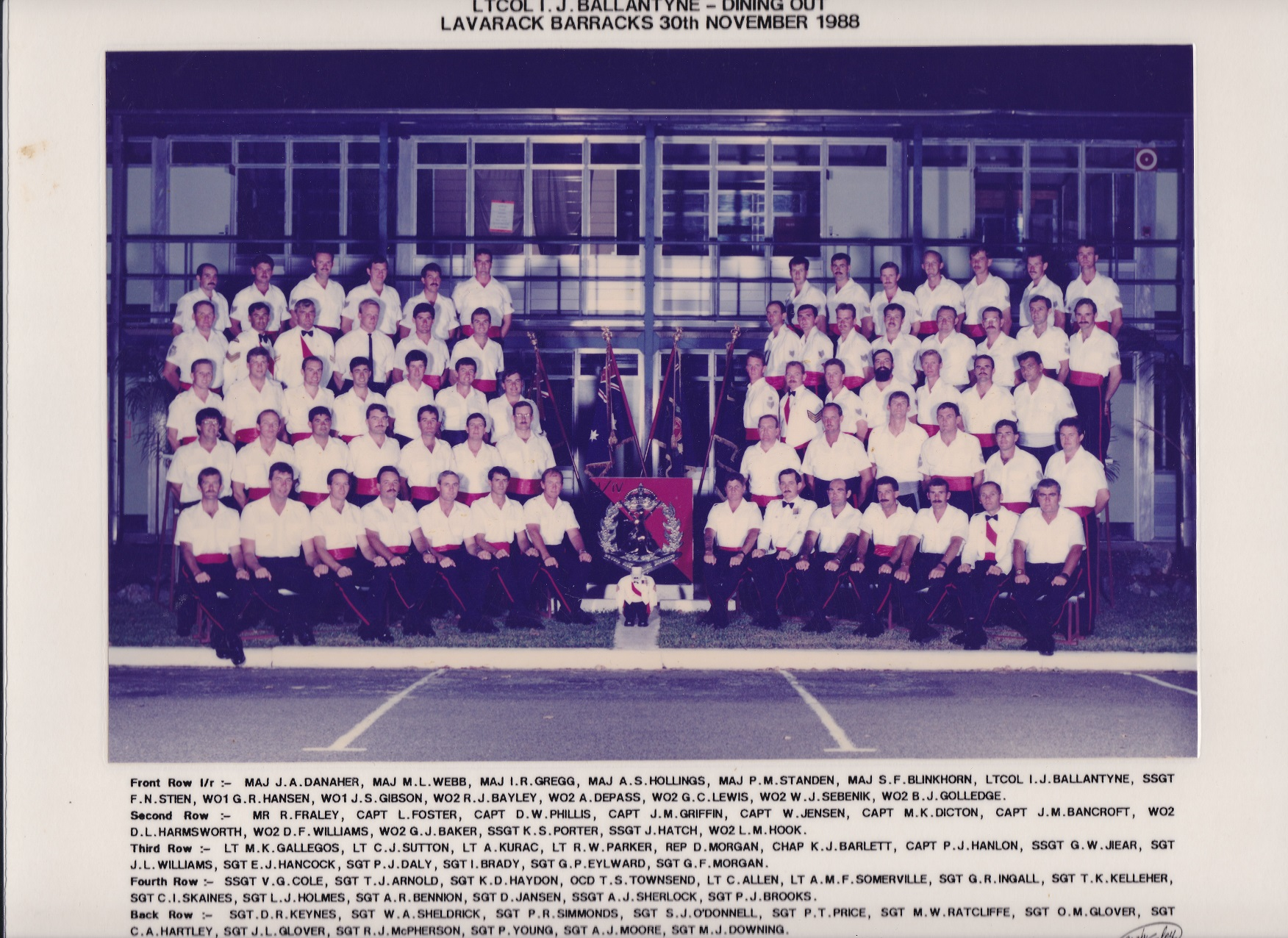SGTS Mess 1988