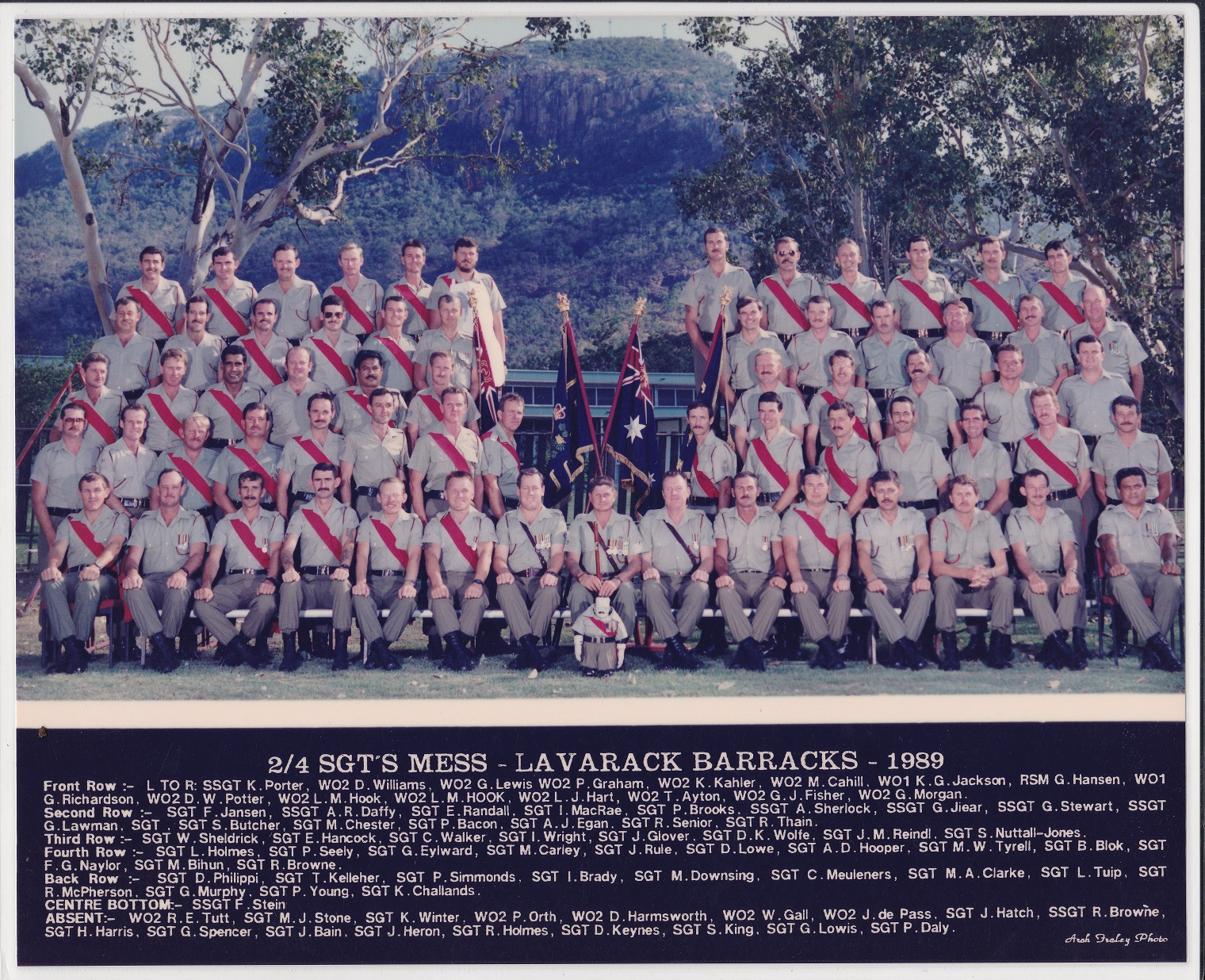 SGTS Mess 1989