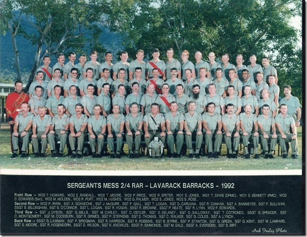 SGTS Mess 1992