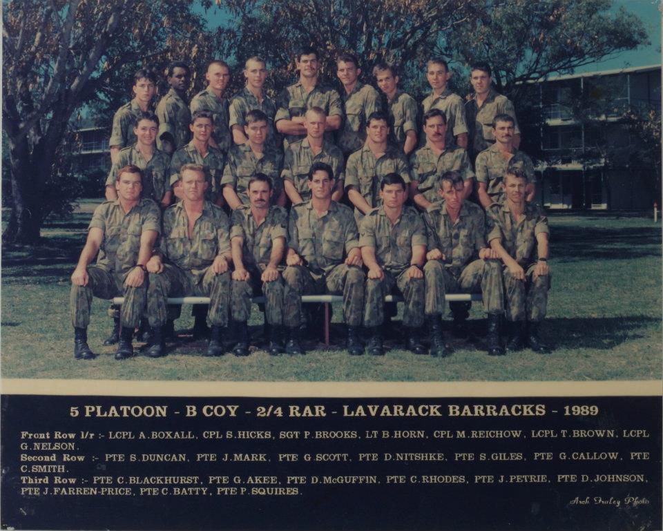 5 Platoon B Coy 2/4 RAR 1989
