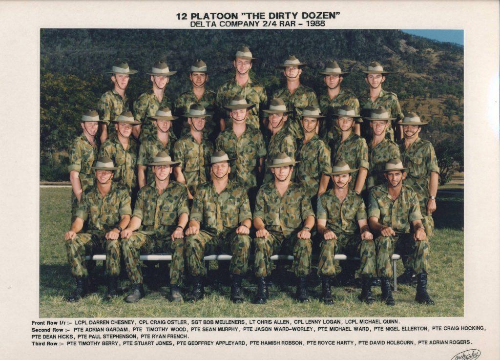 12 PL D Coy 1988
