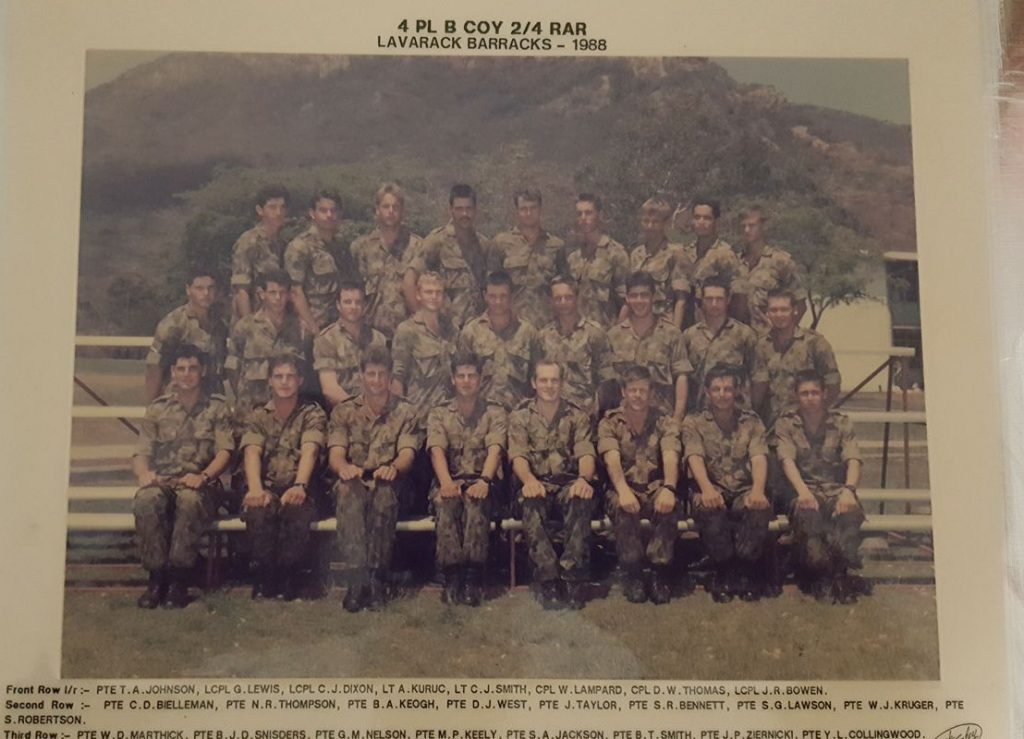 4 PL B Coy 1988